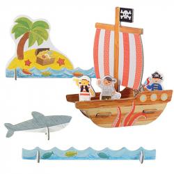 Petitcollage 3D puzzle Piráti s farbami