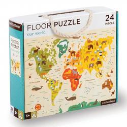 Petitcollage Podlahové puzzle náš svet