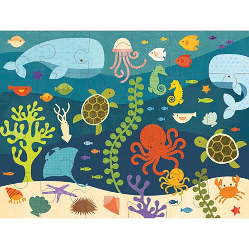 Puzzle Podłogowe Petit Collage - Ocean