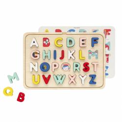 Petitcollage Drevené puzzle abeceda