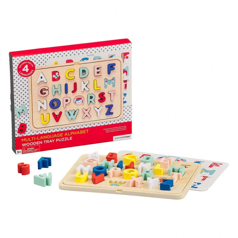 Puzzle drewniane Alfabet Kids