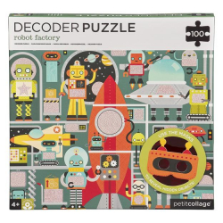 Petitcollage Puzzle roboti 100 ks s 3D okuliarmi