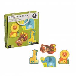 Petitcollage Prvé puzzle mláďatá safari