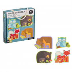 Petitcollage Prvé puzzle lesné zvieratká