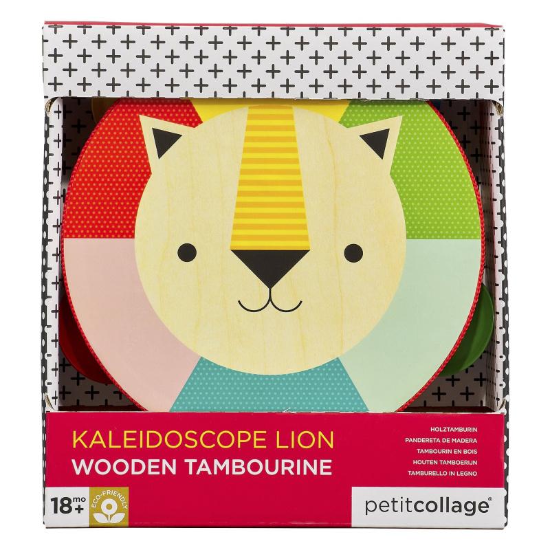 Petitcollage Dřevěná tamburína lev