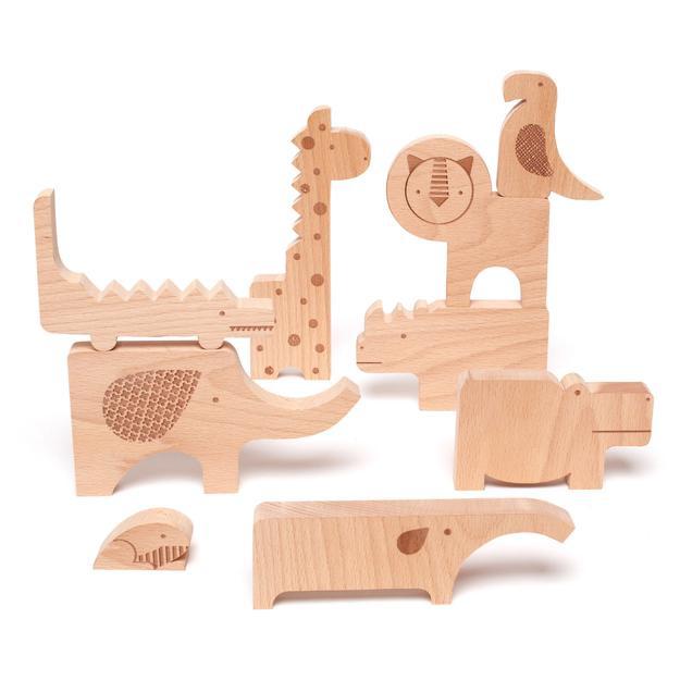 Petitcollage Zábavné puzzle Safari