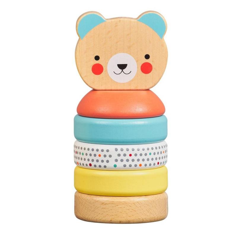 Petitcollage Drevená veža medvedík