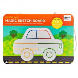 Petit Collage Magnetická kresliace tabuľka Na cestách