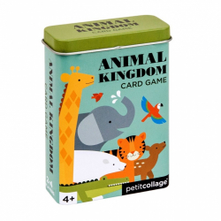 Petitcollage Karty v dóze kráľovstvo zvierat