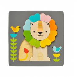 Petitcollage Drevené puzzle lev