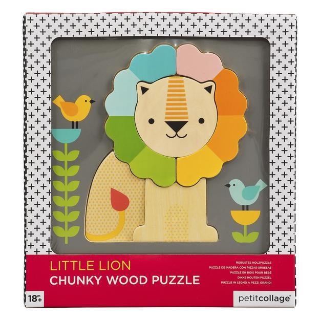 Petit Collage, Puzzle Drewniane Lew