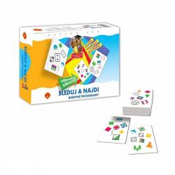 Vzdělávací hra Sleduj a najdi - Barevné piktogramy