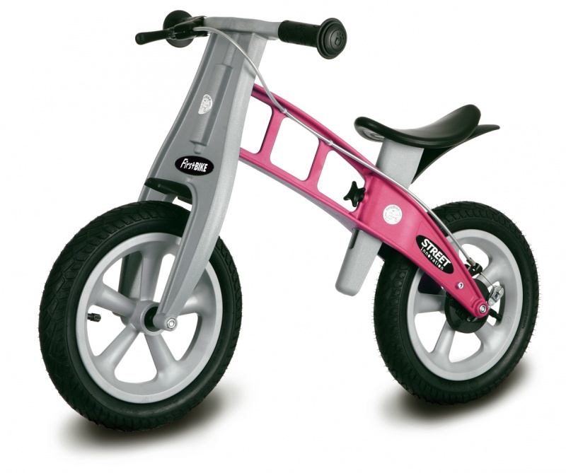 First Bike STREET Pink s brzdou