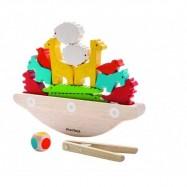 Balansująca łódka, drewniana gra manipulacyjna