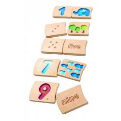 Cyferki 1-10 Nauka liczenia Plan Toys