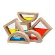 Plantoys dřevěná hračka - Kostky s vodou