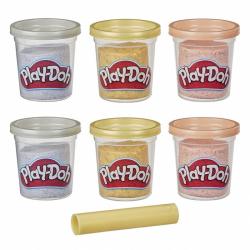 Play-Doh Sada téglikov zlatá, strieborná a ružové zlato 6 ks