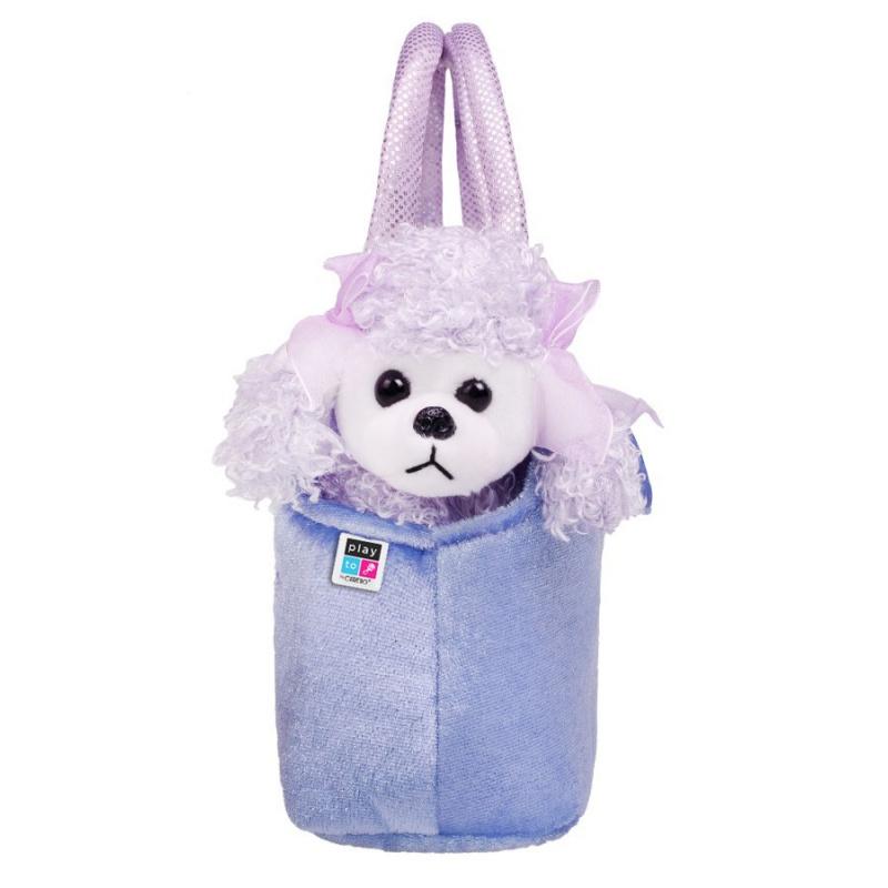Pluszowa zabawka dla dzieci PlayTo Dog w fioletowej torebce