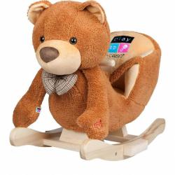 Hojdacia hračka s melódiou Playtech medvedík hnedá
