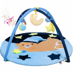 Hracia deka s melódiou PlayTo spiaci medvedík modrá