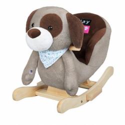 Hojdacia hračka s melódiou Playtech psík šedo-hnedý