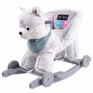 Houpací hračka s melodií a kolečky PlayTo husky