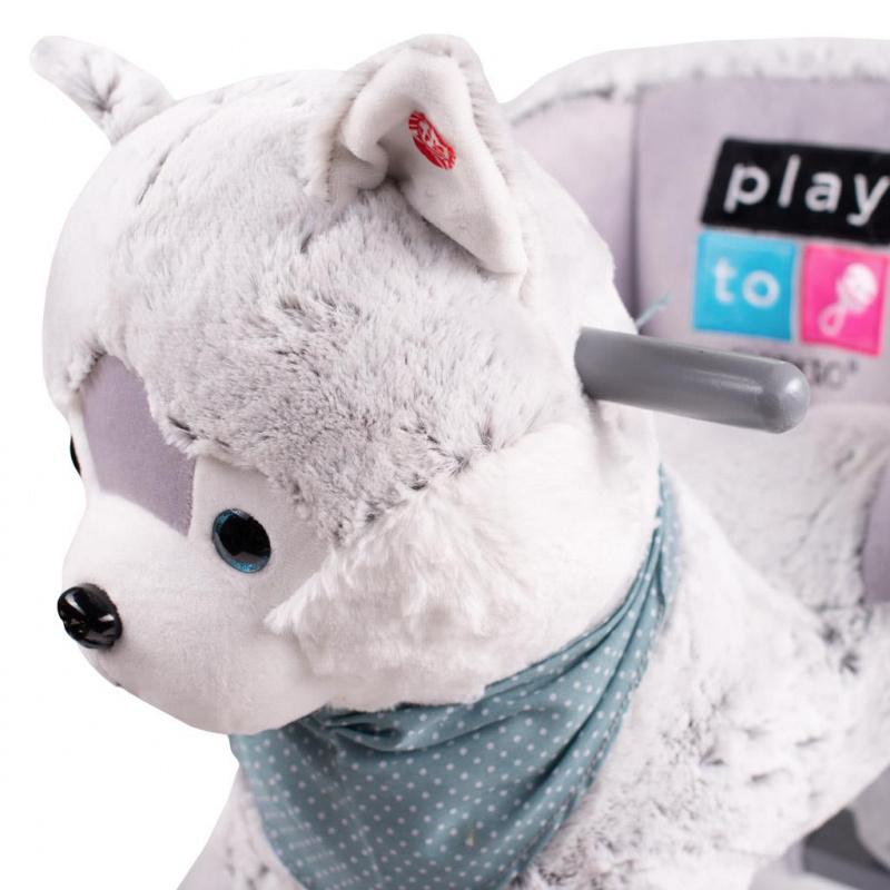 Zabawka na biegunach z melodią i kółkami PlayTo husky