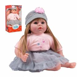 Slovenský hovoriaci a spievajúci detská bábika Playtech Nina 46 cm