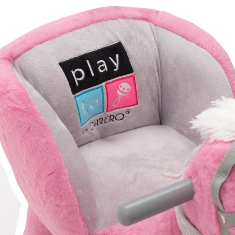 Houpací hračka s melodií PlayTo růžový koník