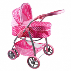 Multifunkčný kočík pre bábiky PlayTo Jasminka svetlo ružový