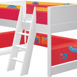 Łóżko dla dzieci Haba Matti 7808 czerwone z miejscem na zabawę
