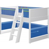 Dětská postel s prostorem na hraní Haba Matti 7808 modrá