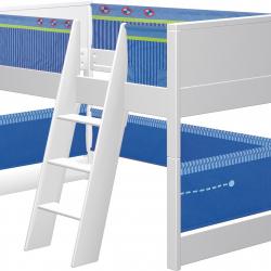Łóżko dla dzieci Haba Matti 7808 niebieskie z miejscem na zabawę