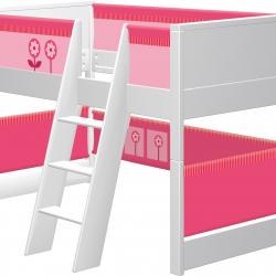 Łóżko dla dzieci Haba Matti 7808 różowe z miejscem na zabawę