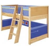 Łóżko dla dzieci Haba Matti 8375 niebieskie z miejscem na zabawę