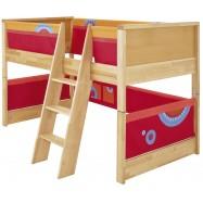 Łóżko dla dzieci Haba Matti 8375 czerwone z miejscem na zabawę