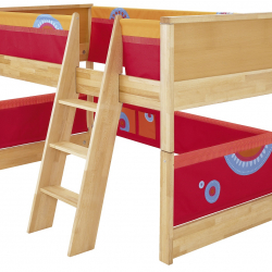 Dětská postel s prostorem na hraní Haba Matti 8375 červená