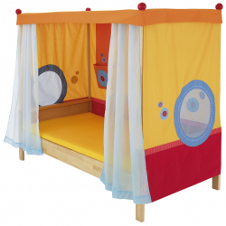Łóżko z baldachimem Haba Matti 8378 czerwone