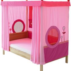 Łóżko z baldachimem Haba Matti 8378 różowa