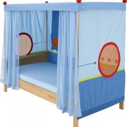 Łóżko z baldachimem Haba Matti 8378 niebieska