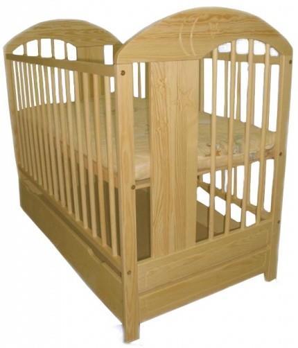 Dětská postel Klupš Radek VII přírodní se šuplíkem