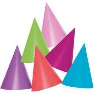 Jednobarevný párty klobouček 6 ks