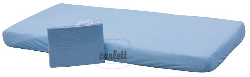 Prostěradlo nepropustné 120x60cm - modré