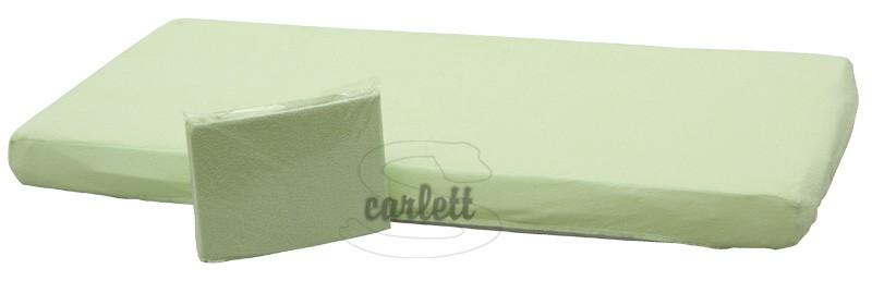 Prostěradlo froté Lux na gumu 120x60cm- zelené