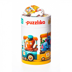Puzzlika 13050 Vlak 94 cm - naučné puzzle 20 dílků