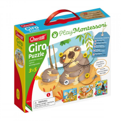 Quercetti Giro Puzzle spinning puzzle - puzzle obrotowe