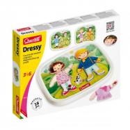 Quercetti Dressy Baby magnetic dress-up puzzle – magnetická skládačka