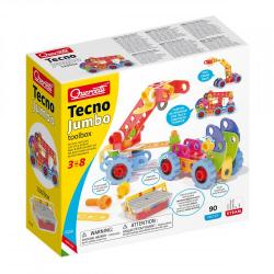 Quercetti Tecno Jumbo toolbox – stavebnice se šroubky a matičkami