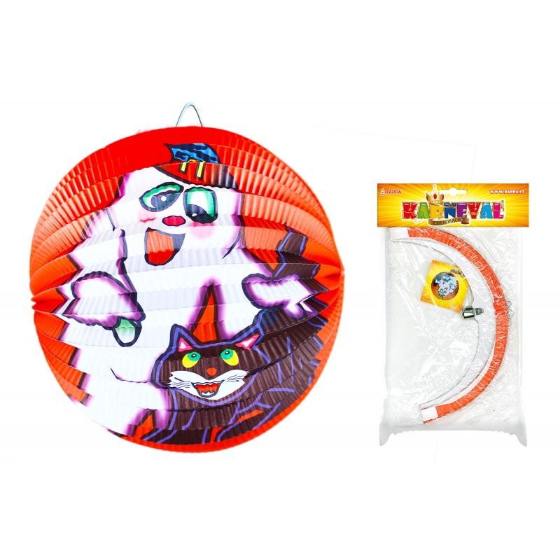 lampion Halloween koule, 25 cm