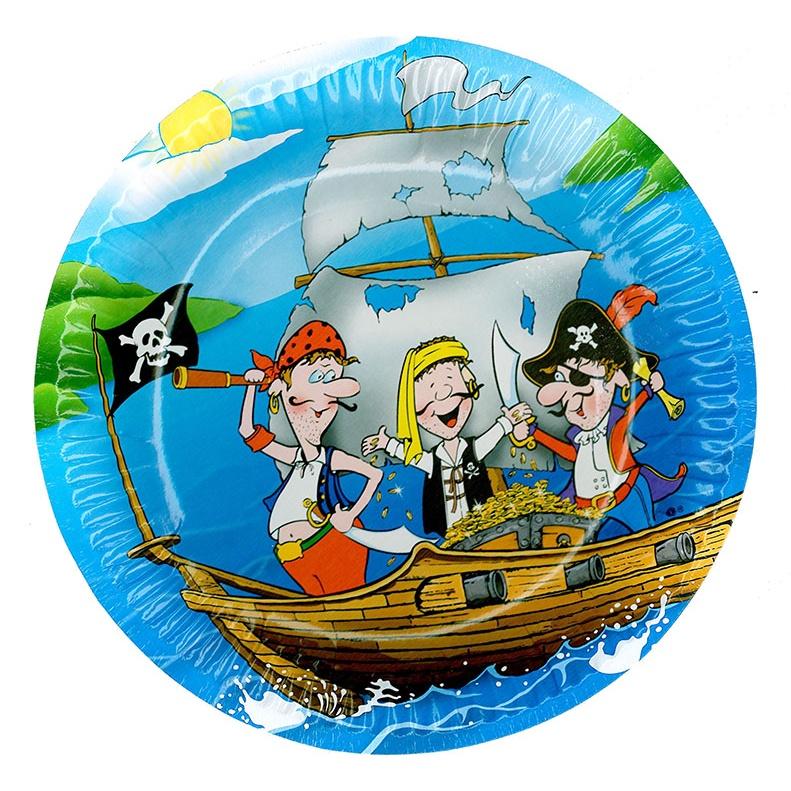 talířek párty - pirát, 6 ks v sáčku